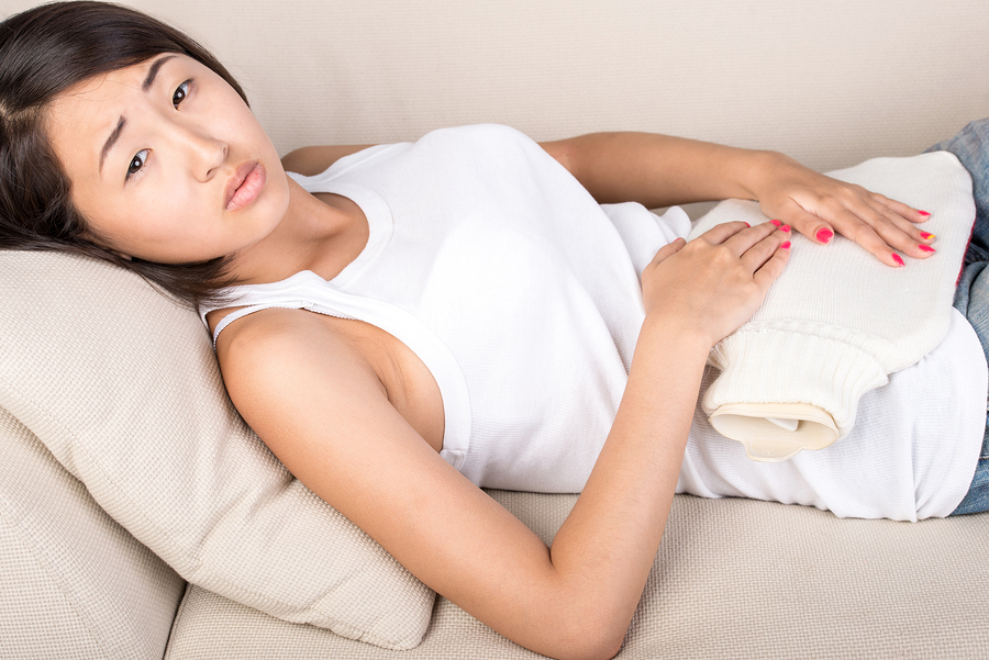 Use HEATING PAD to relief gas pain and stomach bloating